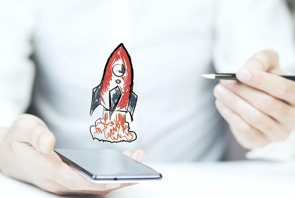 Smartphone et fusée